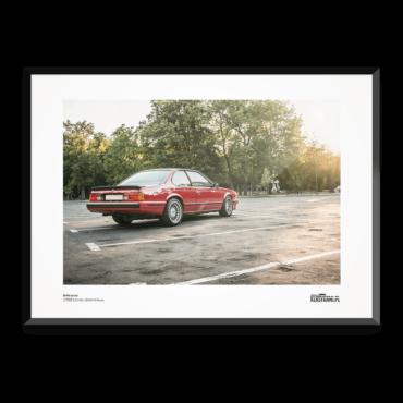 Plakat z samochodem BMW M6 E24