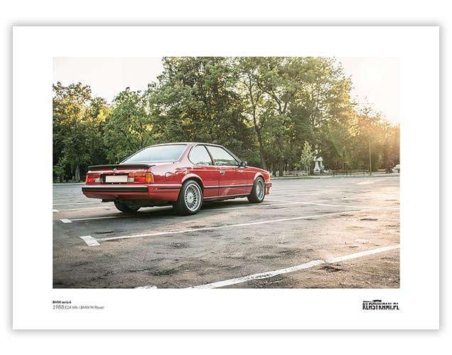 Plakat BMW E24 M6