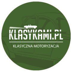 Naklejka Klasykami.pl - klasyczna motoryzacja