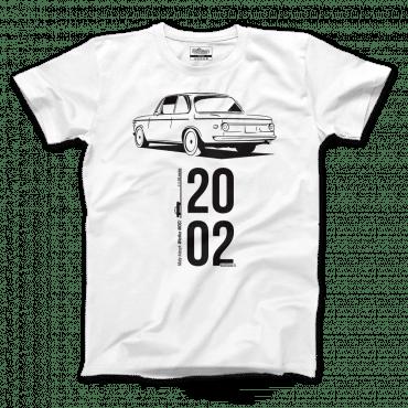 T-shirt BMW 2002 z samochodem