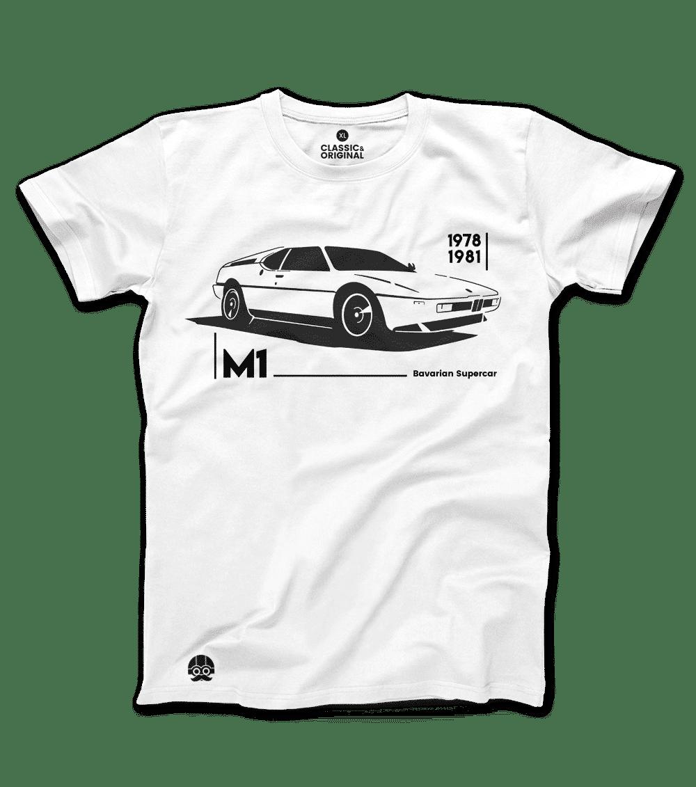 Koszulka BMW M1 z samochodem