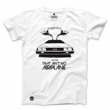 T-shirt Delorean That Ain't no Airplane