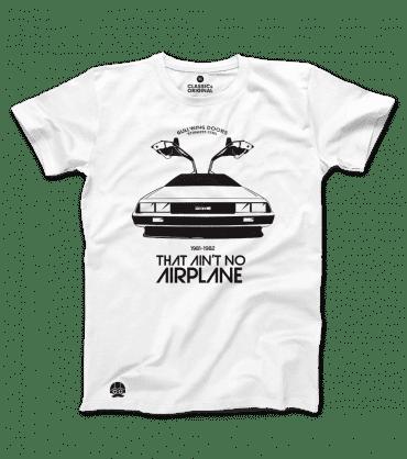 T-shirt Delorean That Ain't no Airplane