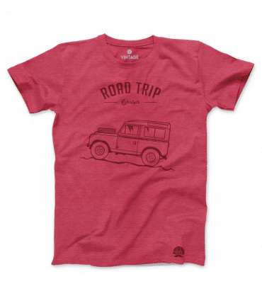 T-shirt Road Trip Land Rover Defender