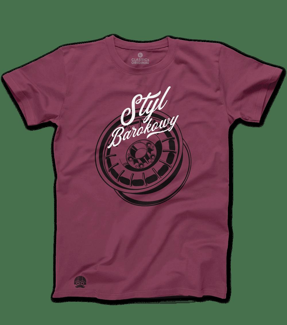 "Koszulka ""Styl Barokowy"" – Burgund"