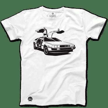 T-shirt z samochodem Delorean Wechikuł Czasu