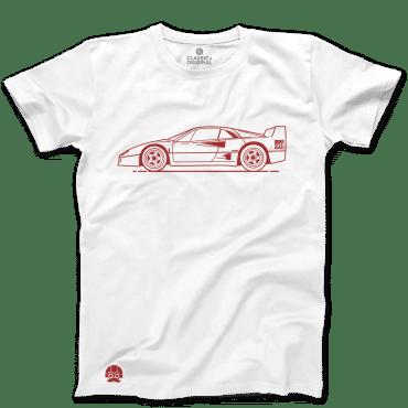 Koszulka z samochodem FERRARI F40