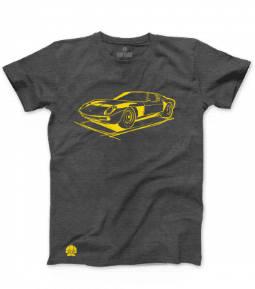 Koszulka z samochodem Lamborghini MIURA