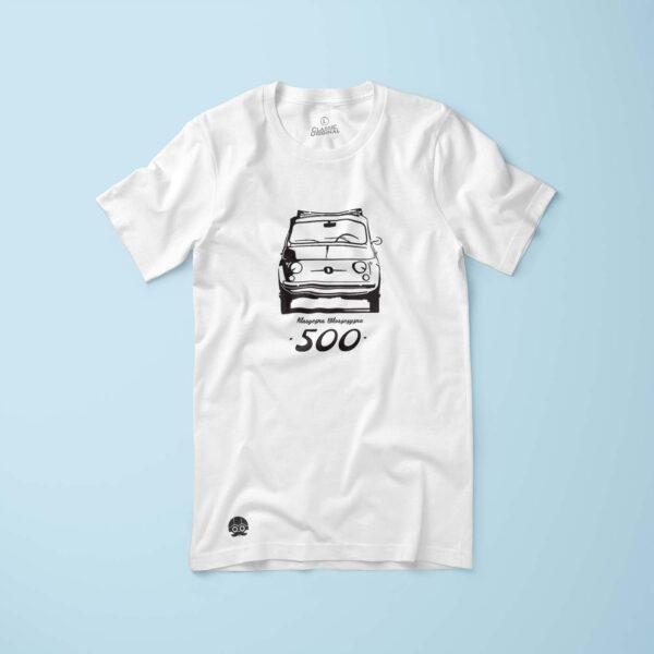 Koszulka damska z Fiat 500 Klasyczna Włoszczyzna