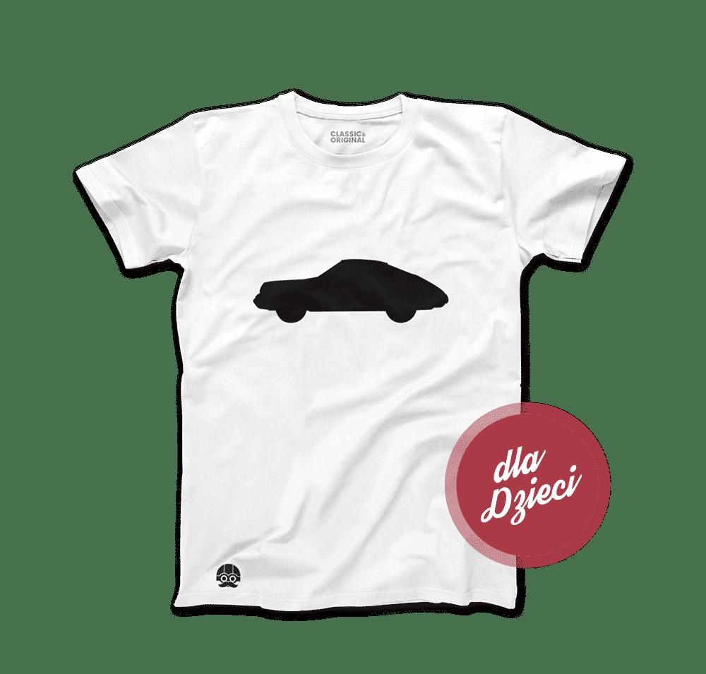 Biała koszulka dziecięca z Porsche 911