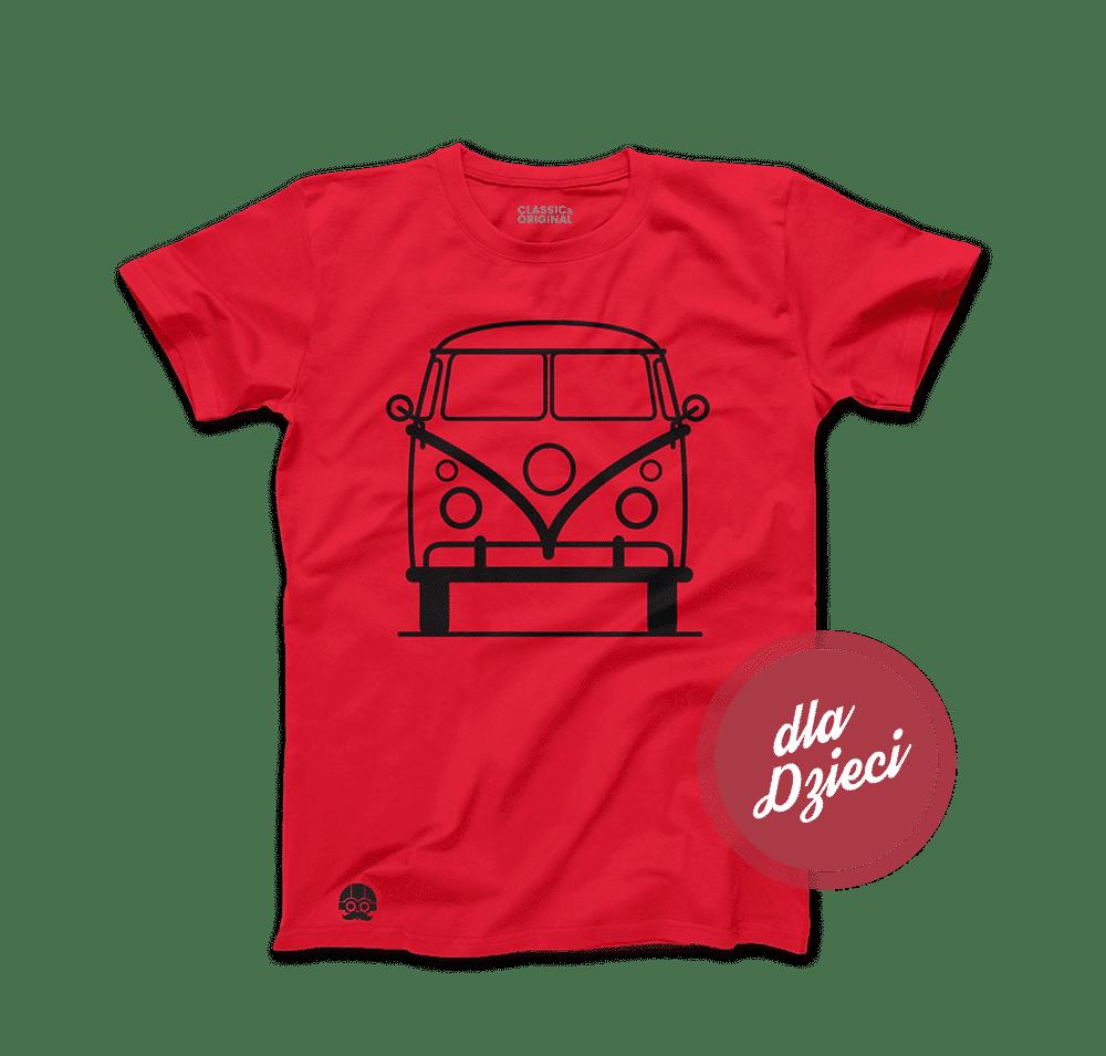 Koszulka dla dzieci z samochodem Volkswagen T1