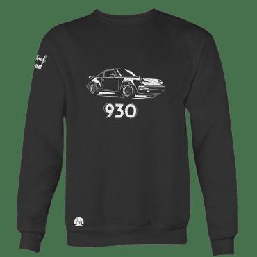 Bluza bez kaptura z samochodem Porsche 911 930