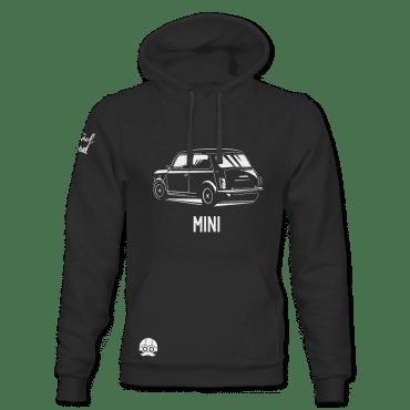 Bluza czarna z kapturem motoryzacyjna MINI