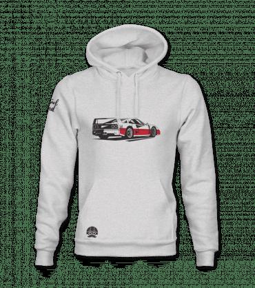 Bluza z supersamochodem retro Ferrari f40