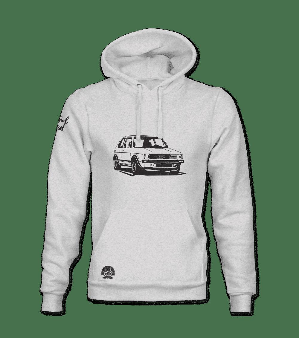 Bluza z kapturem i kieszenią motoryzacja klasyczna
