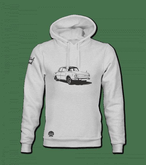 Bluza z kapturem z klasycznym autem Skoda