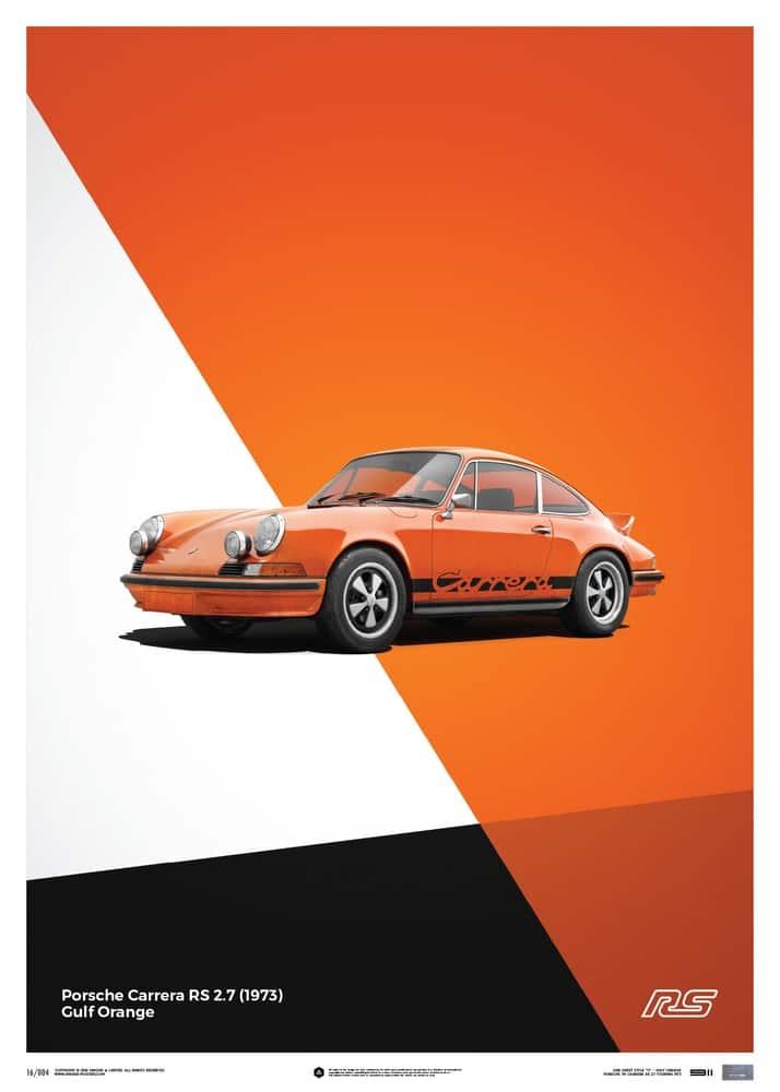 Plakat Porsche 911 RS – Orange – Limited Poster
