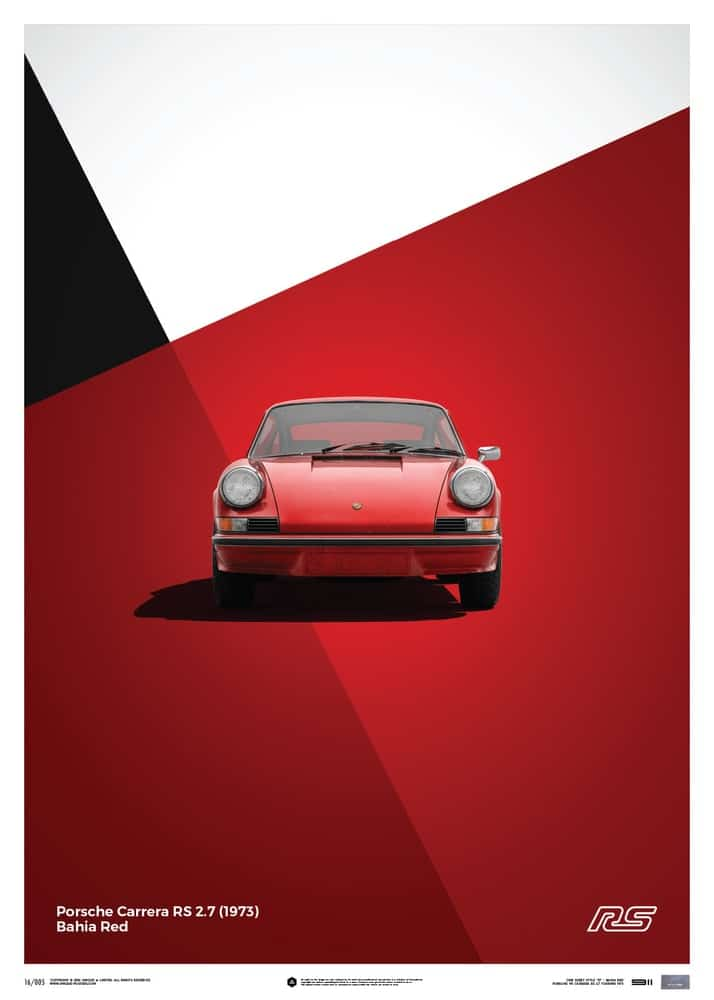 Porsche 911 RS – Red – Limited Poster