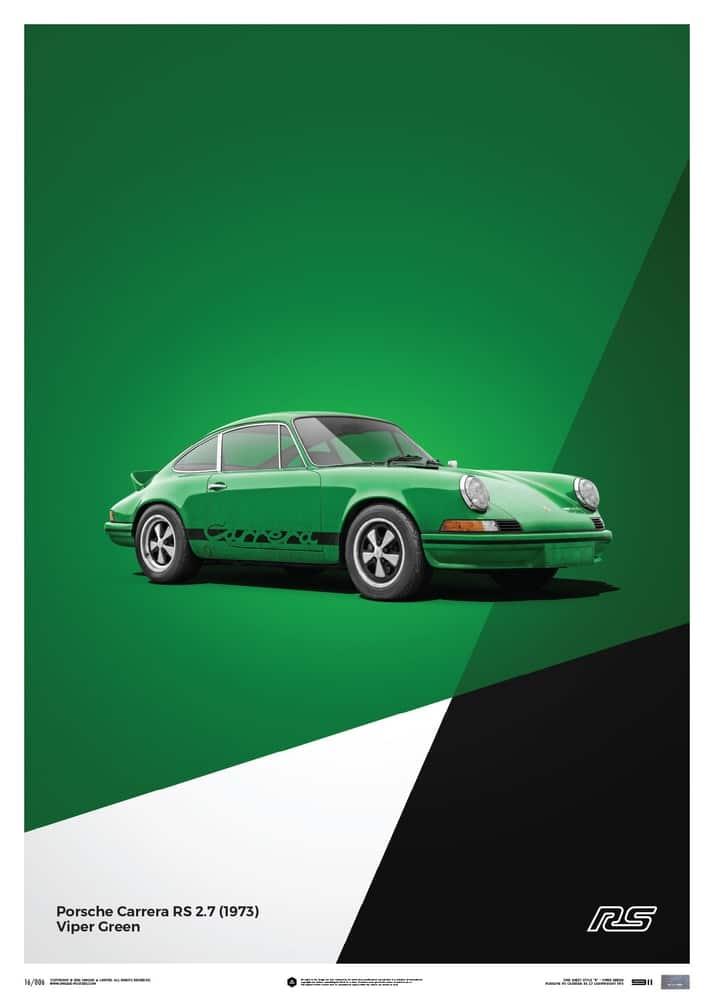Porsche 911 RS – Green – Limited Poster