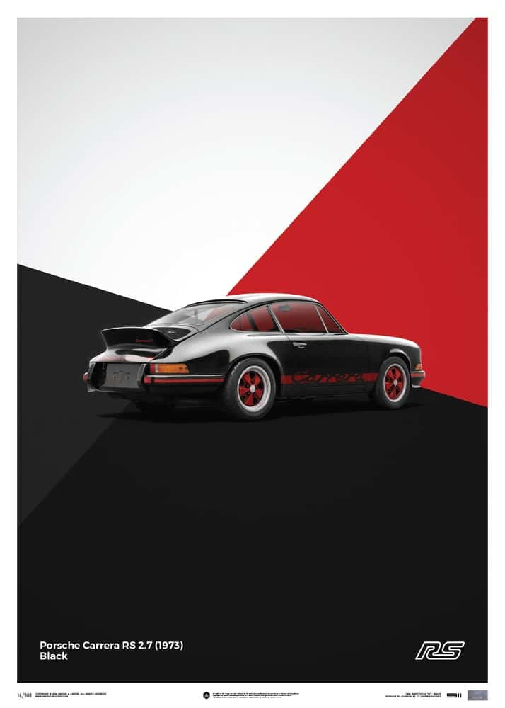 Porsche 911 RS – Black – Limited Poster