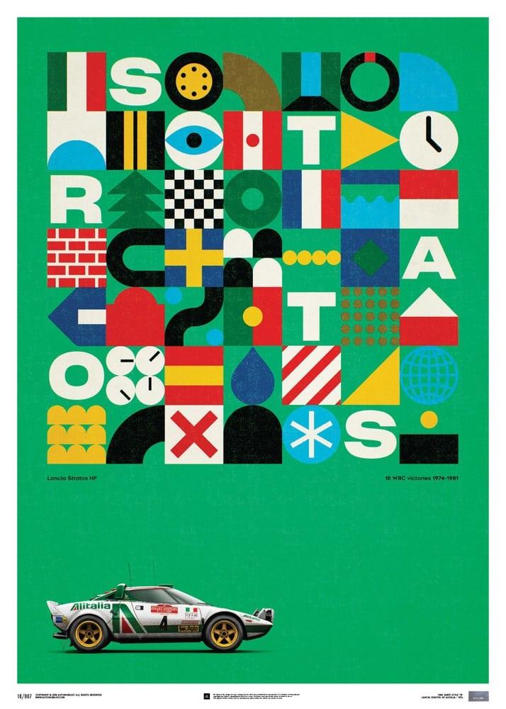 Lancia Stratos HF – Green – Alitalia – 1974 – Limited Poster