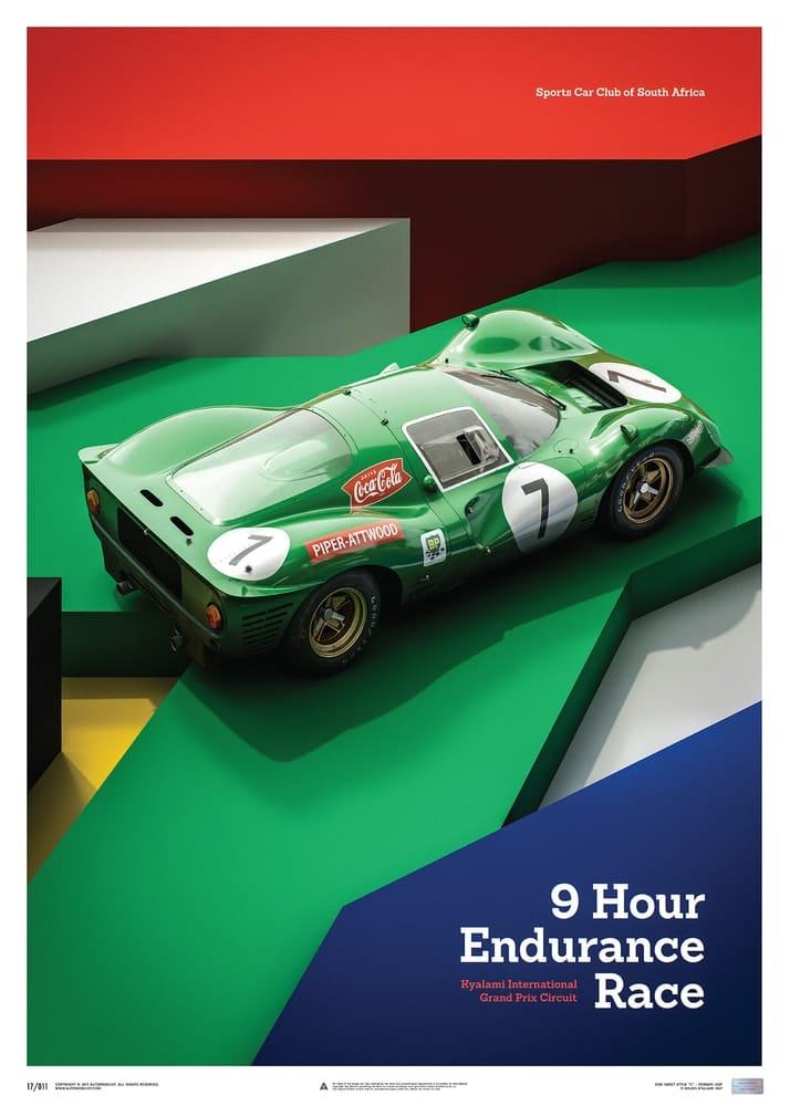 Ferrari 412P – Green – Kyalami 9 Hour – 1967 – Limited Poster