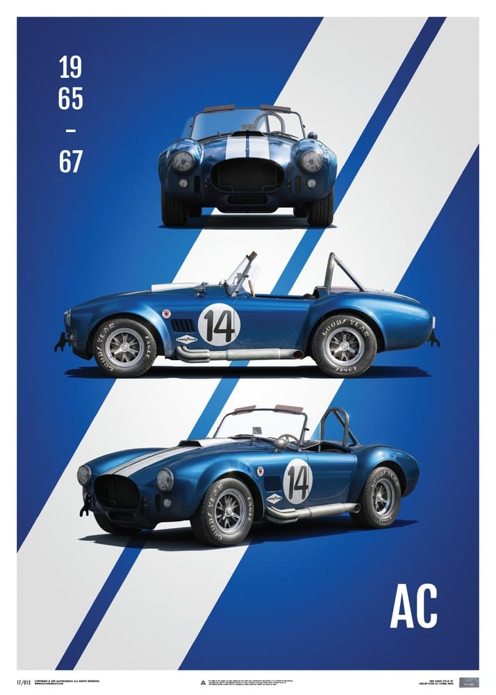 Plakat Shelby-Ford AC Cobra MKIII