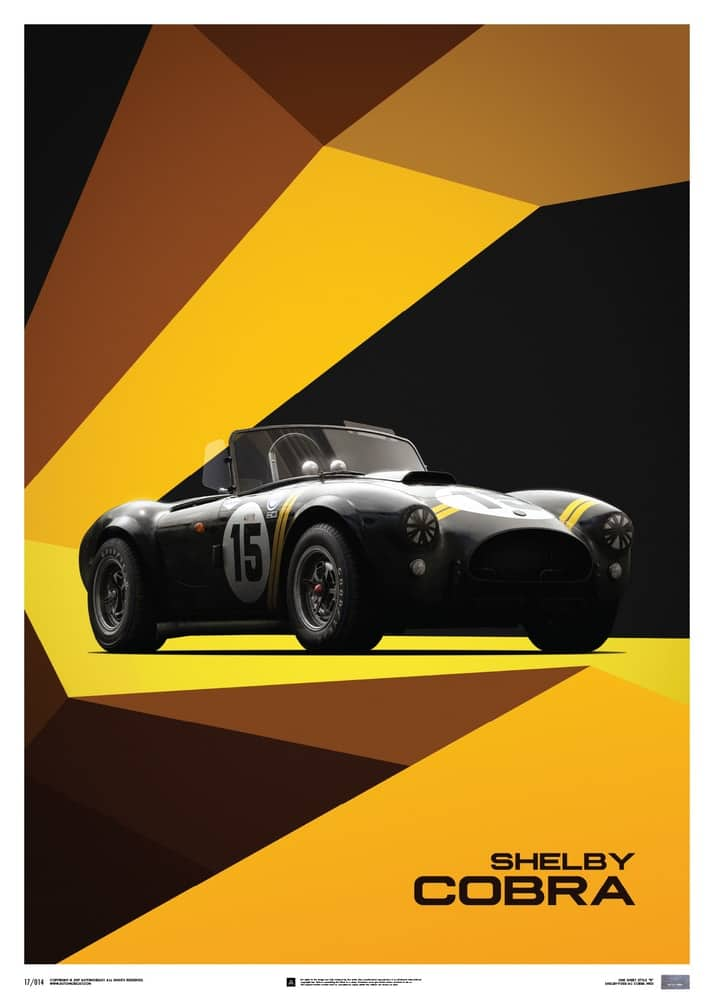 Shelby-Ford AC Cobra Mk II – Black – 1962 – Limited Poster