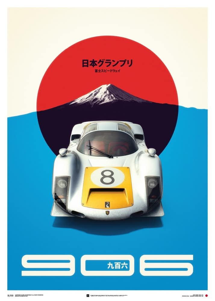 Plakat Porsche 906 – Japanese GP 1967