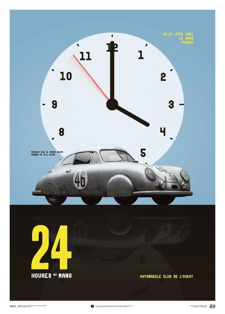 Porsche Gmund – Silver – 24h Le Mans – 1951 – Poster