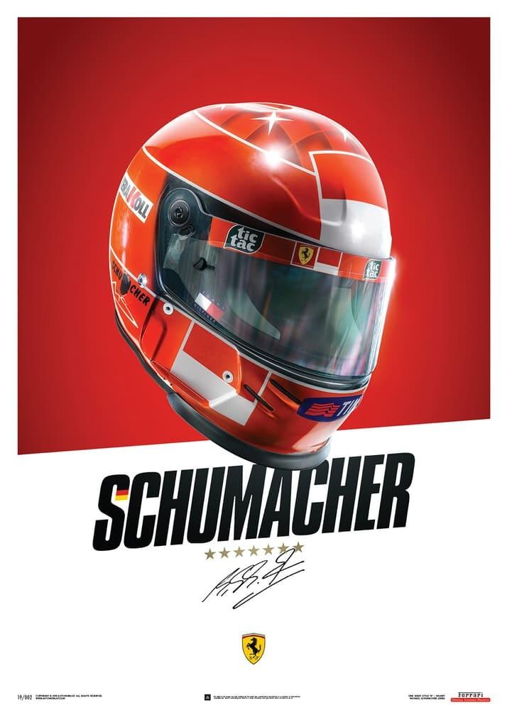 Ferrari F1-2000 – Michael Schumacher – Helmet – Poster