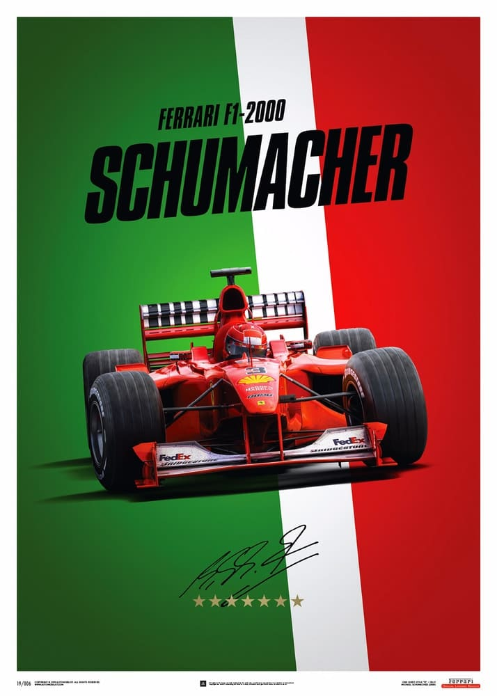 Ferrari F1-2000 – Michael Schumacher – Italy – Suzuka GP – Poster