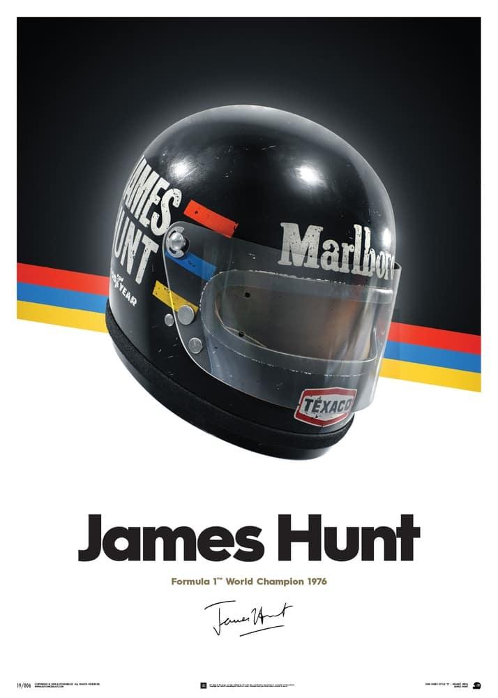 James Hunt – Helmet – 1976 – Poster