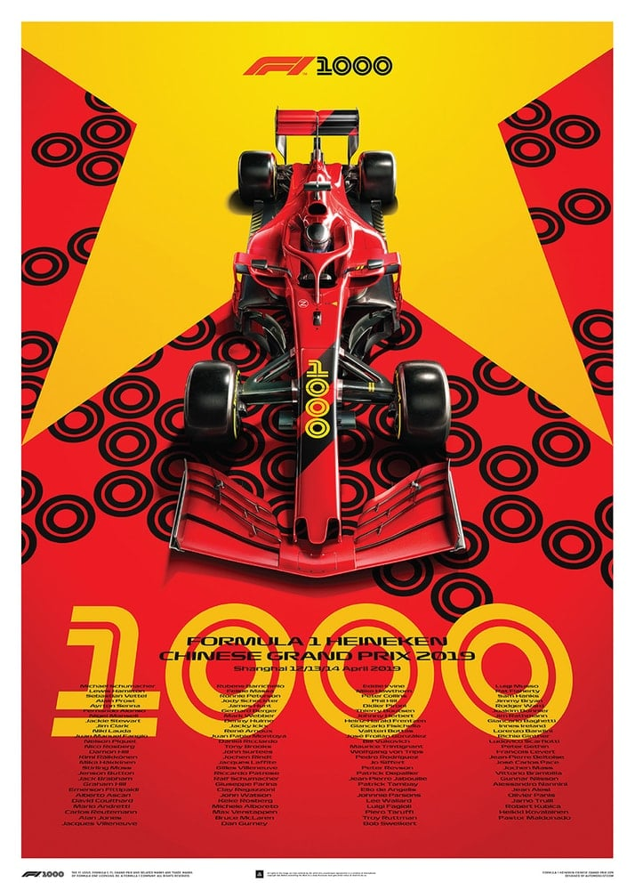 FORMULA 1 HEINEKEN CHINESE GRAND PRIX 2019 – Poster