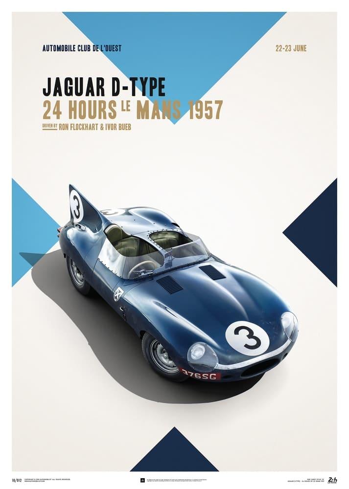 Plakat Jaguar D-Type 24h Le Mans