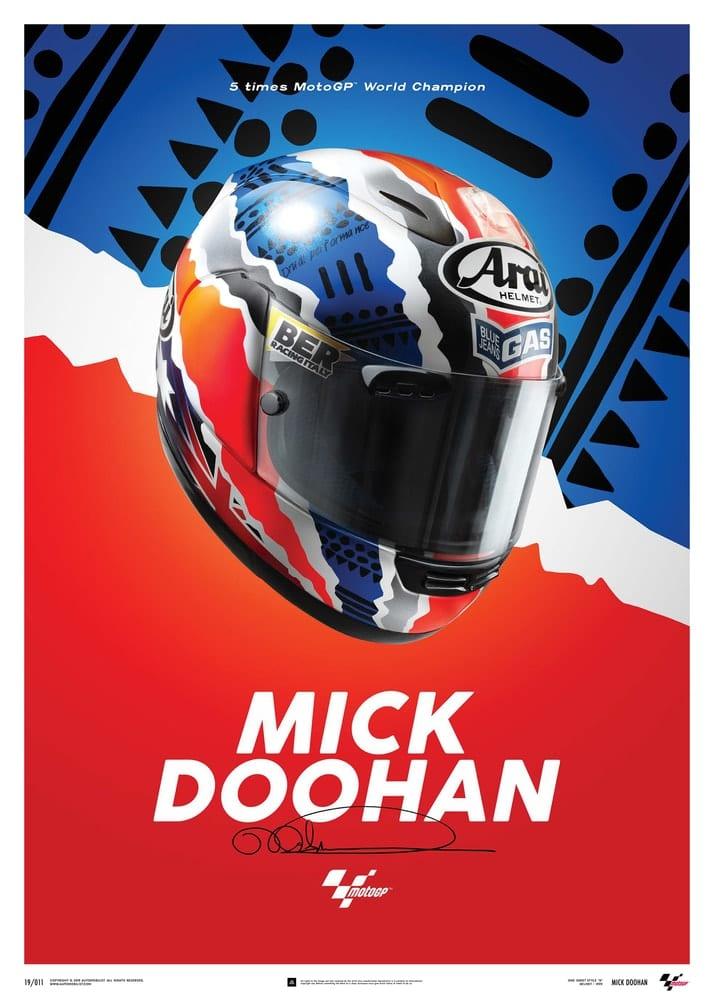 Mick Doohan – Helmet – 1999 – Poster
