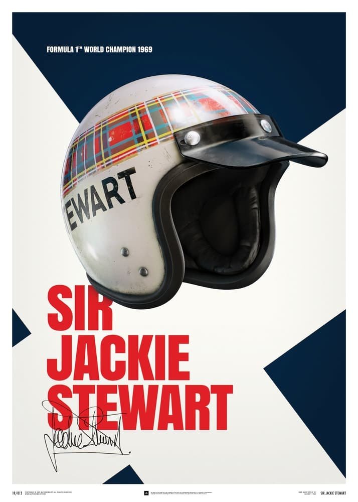Sir Jackie Stewart – Helmet – 1969 – Poster