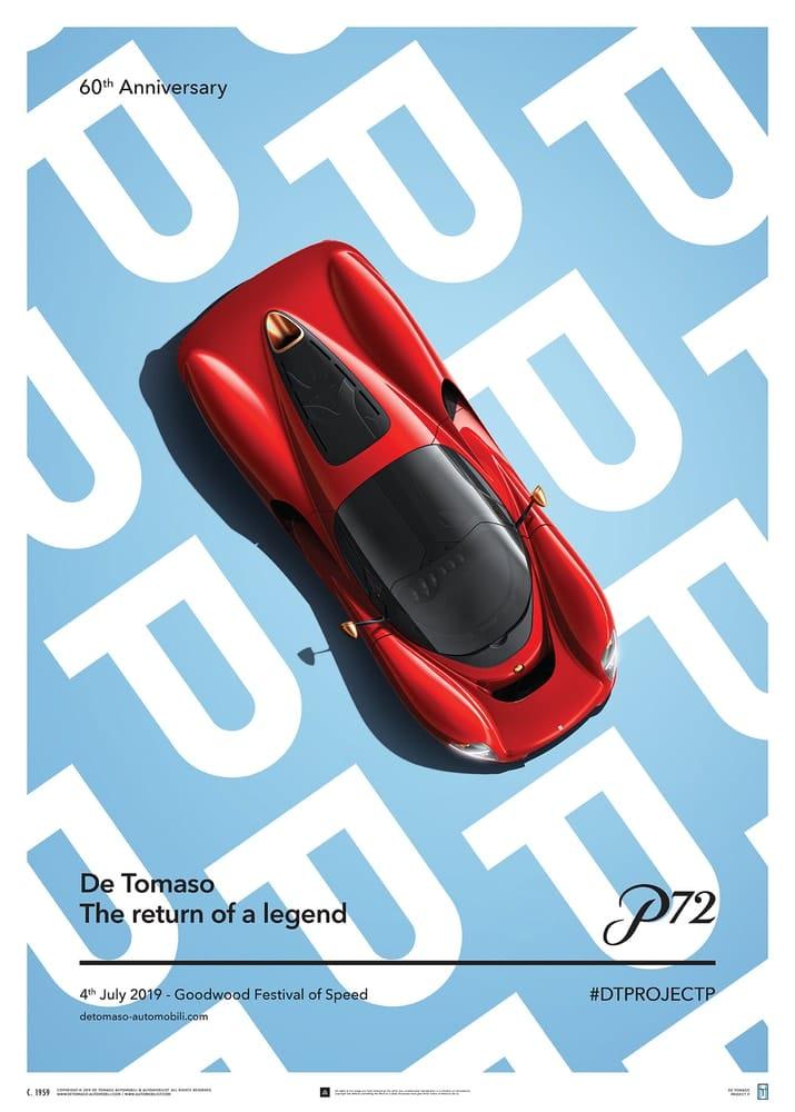 De Tomaso Project P – Top view – 2019 – Poster