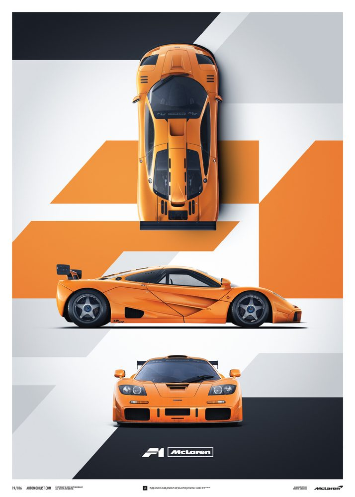 McLaren F1 LM – Papaya Orange – Poster