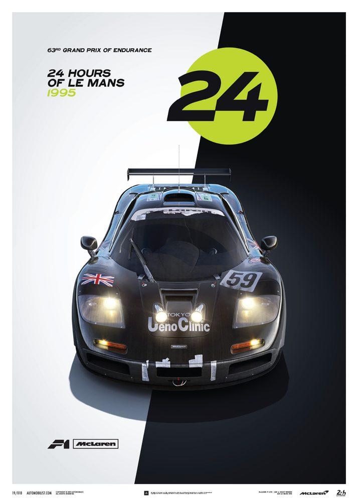 McLaren F1 GTR – 24h Le Mans – Poster