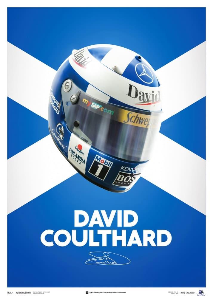 David Coulthard – Helmet – 2000 – Poster