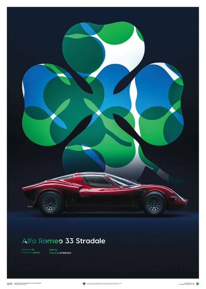 Plakat Alfa Romeo 33 Stradale