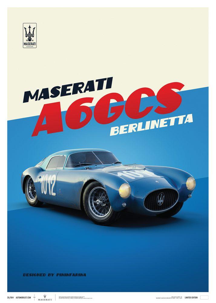 Maserati A6GCS Berlinetta 1954 – Blue
