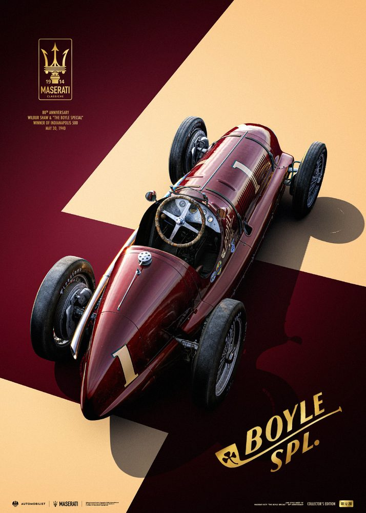Maserati 8CTF – The Boyle Special – Indianapolis 500 Mile Race – 1940   Collector's Edition