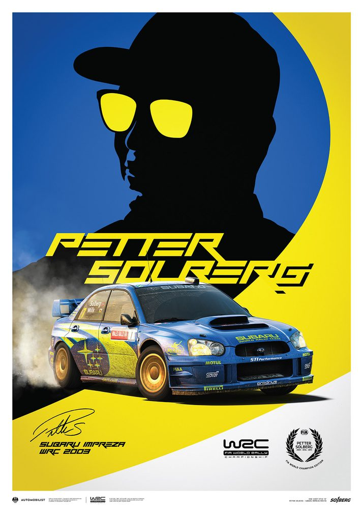 Subaru Impreza WRC 2003 – Petter Solberg – Poster