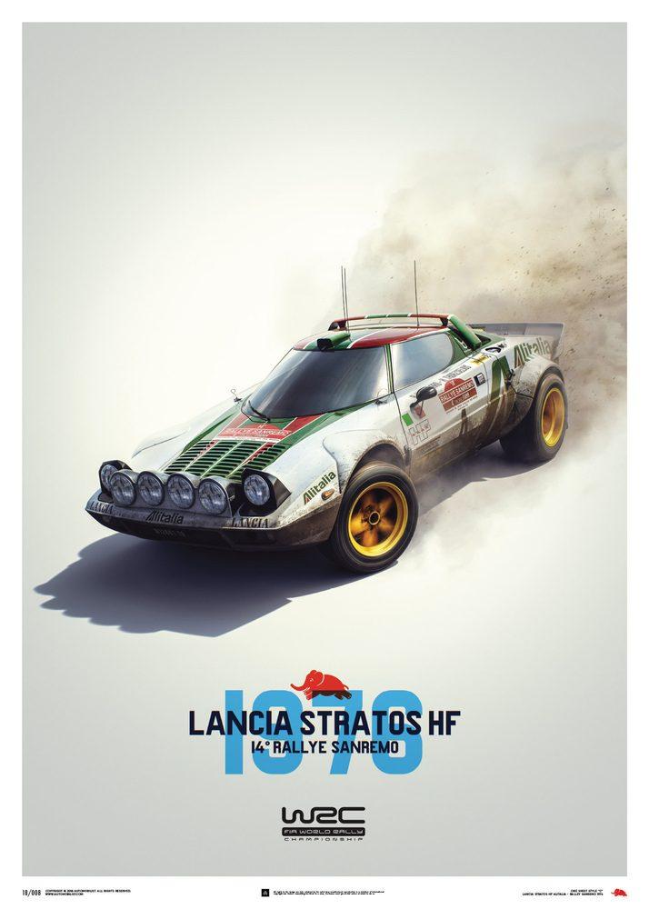 Plakat Lancia Stratos HF – White – Alitalia