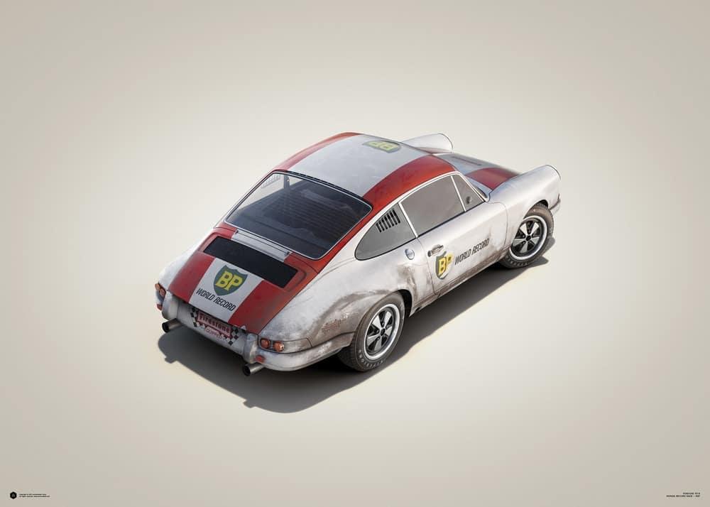 Porsche 911R – BP Racing – Monza – 1967 – Colors of Speed Poster
