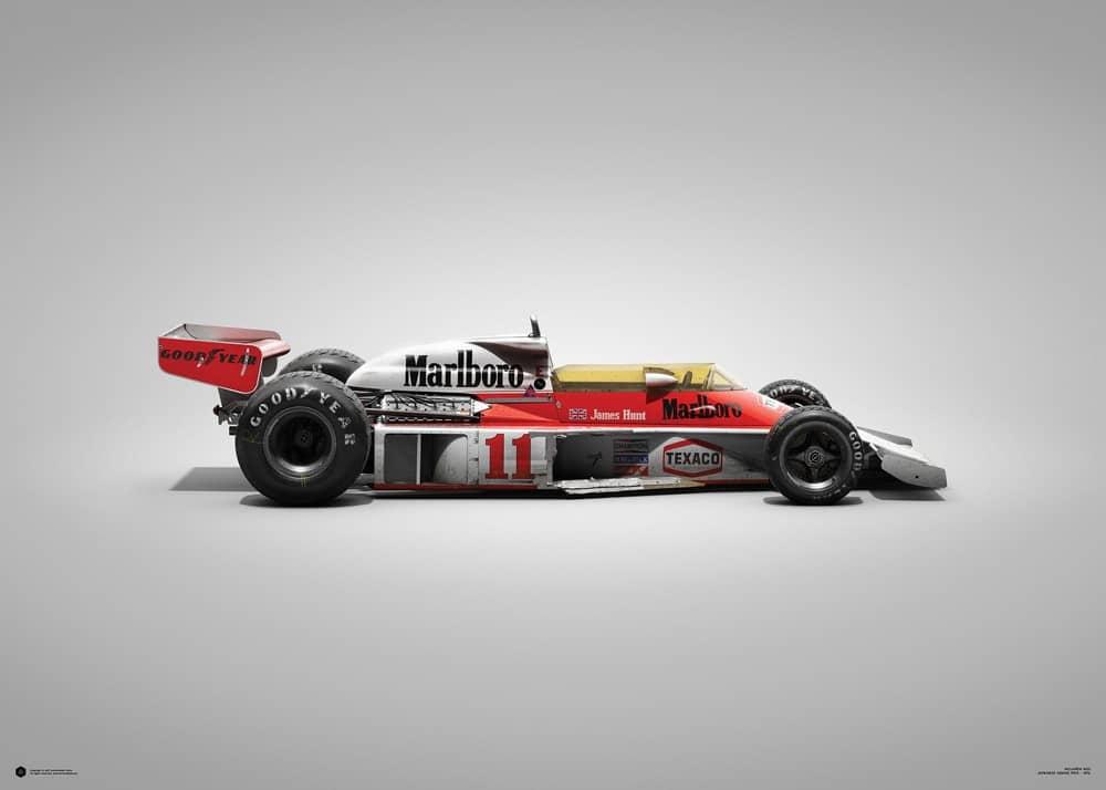 McLaren M23 – James Hunt – Japanese GP – 1976 – Colors of Speed Poster