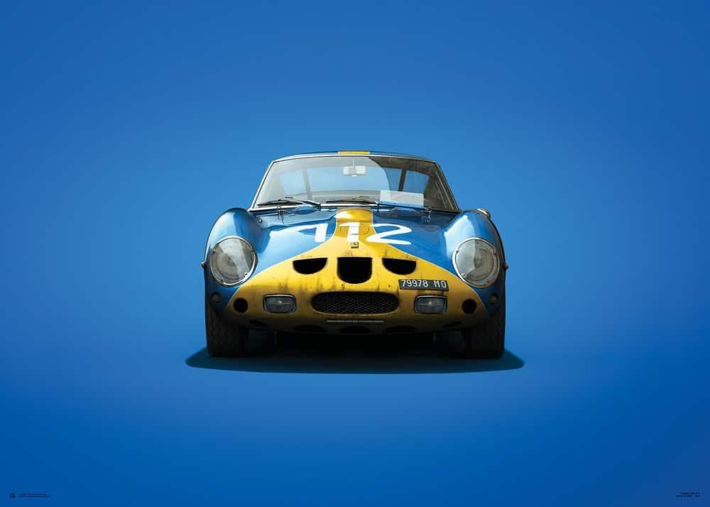 Ferrari 250 GTO – Blue – Targa Florio – 1964 – Colors of Speed Poster