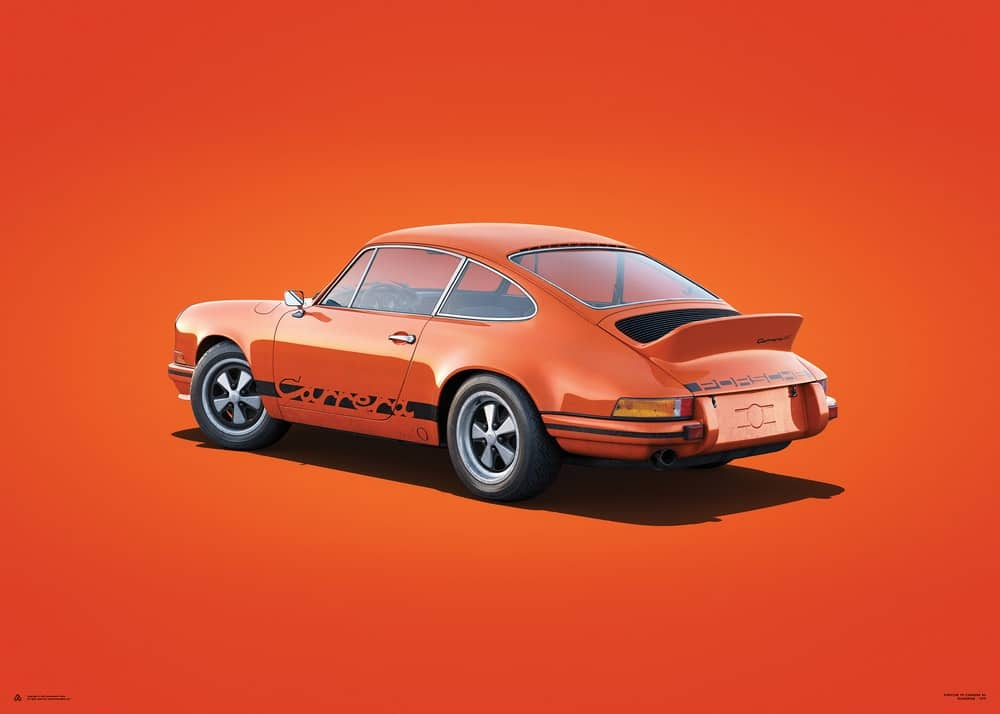 Porsche 911 RS – Tangerine – Colors of Speed Poster